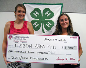 L to R – Kristy Ouellette, the University of Maine Cooperative Extension; Kristi Burnham, Lisbon Community FCU
